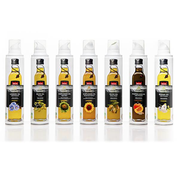 Масло-спрей подсолнечное и оливковое Getuva