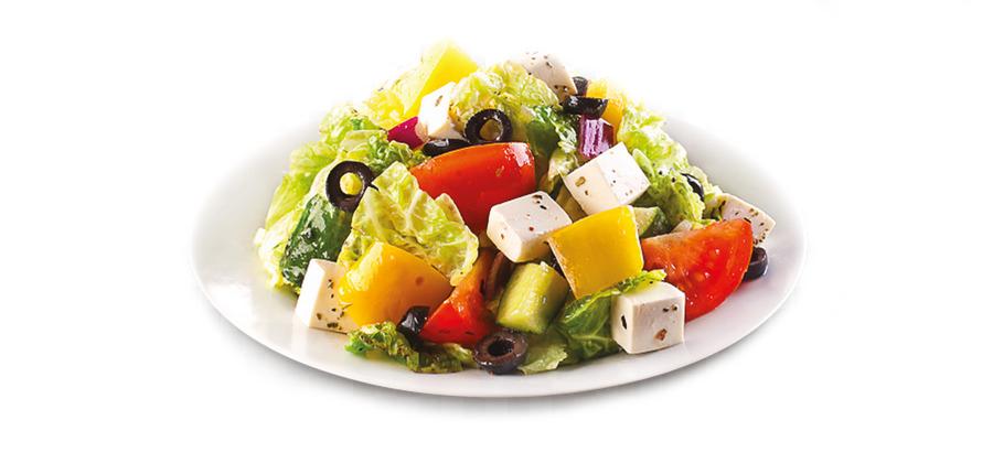 Салат с маслом спреем