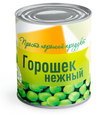 зеленый горошек консервированный оптом